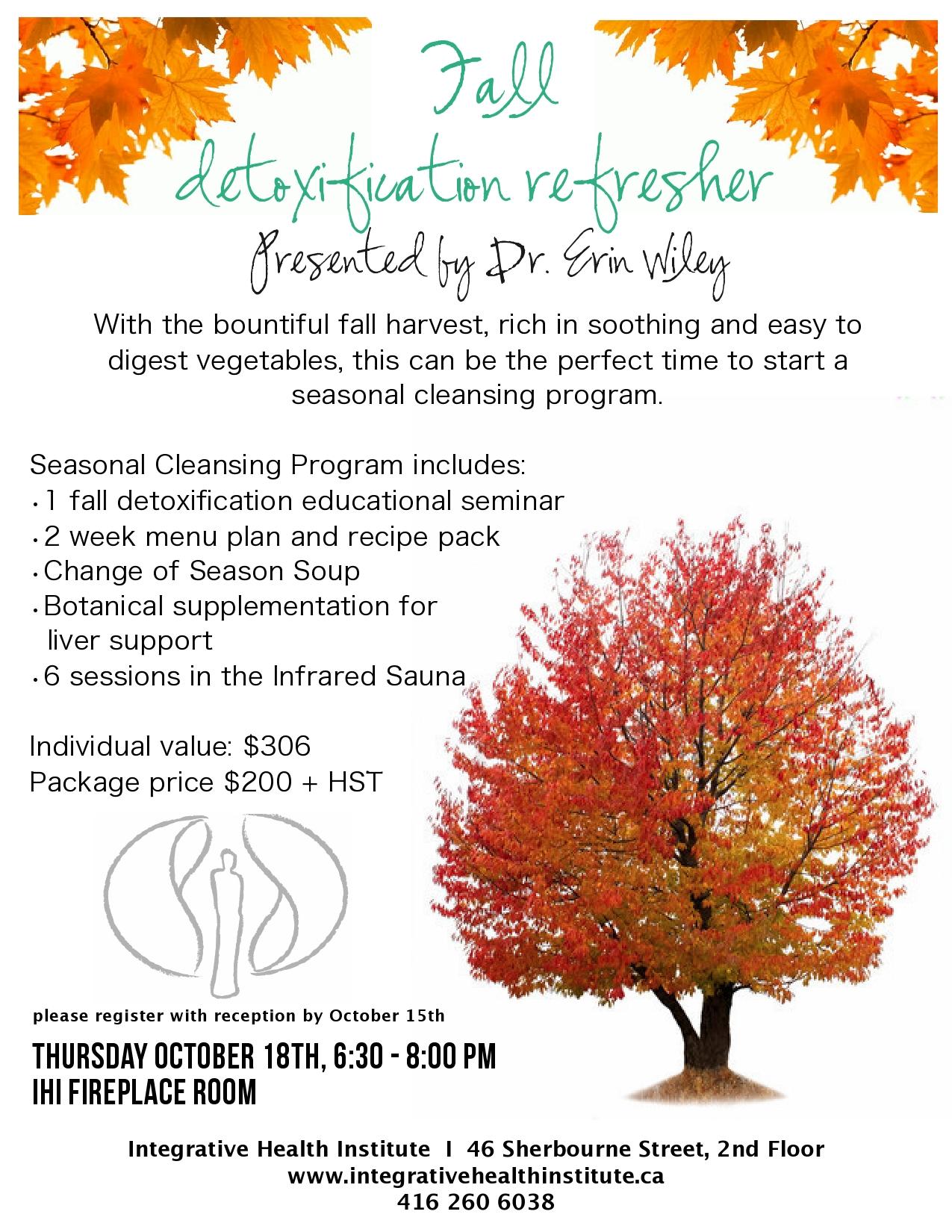Fall Detoxification Refresher