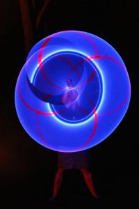 Dr. Watson hula hooping