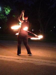 Dr. Watson fire hula hooping #dangerfun