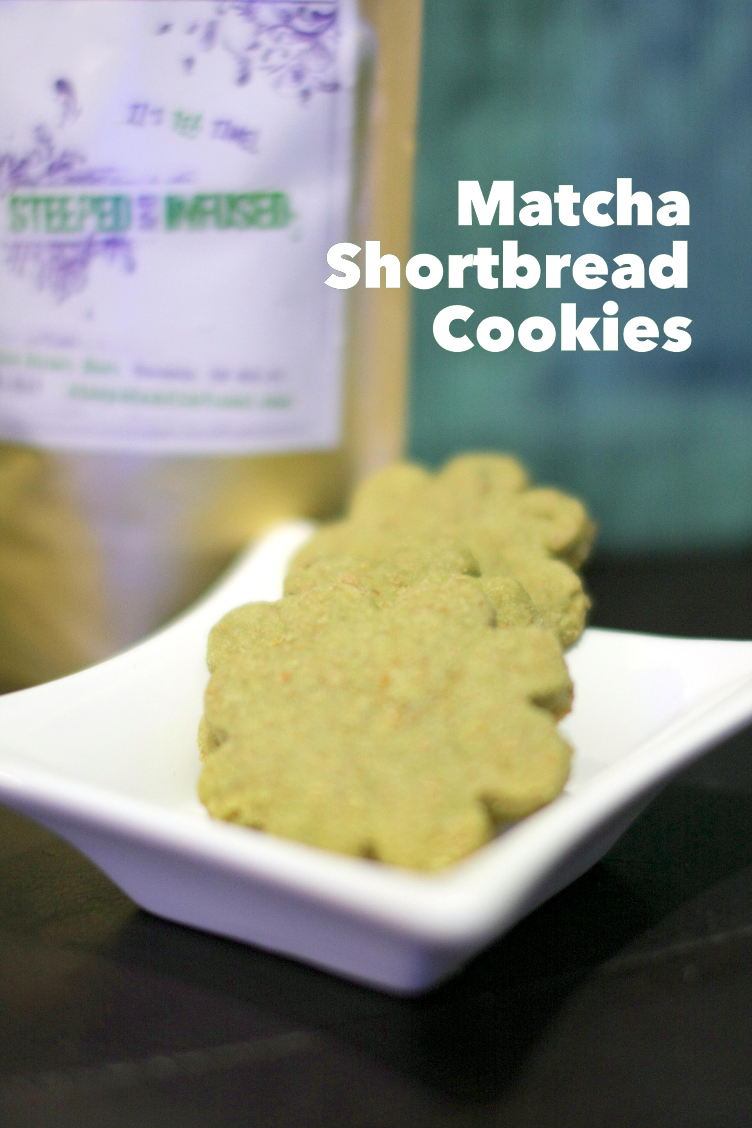 Matcha Green Tea Shortbread Cookies Recipe — Dishmaps